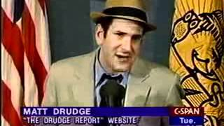 Matt Drudge Creator of Drudge Report Press Conference - (3 of 4)