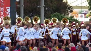"""USC Band """"Heartbreaker"""" Union Square San Francisco California 2018"""