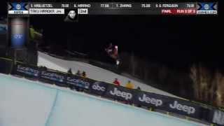 Taku Hiraoka wins Snowboard SuperPipe Silver - Winter X Games 平岡卓 検索動画 30