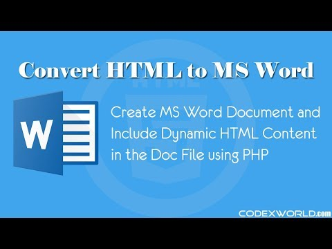 Convert HTML To MS Word Document Using PHP