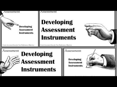 Instructional Design - Unit 10 - Assessment Instruments