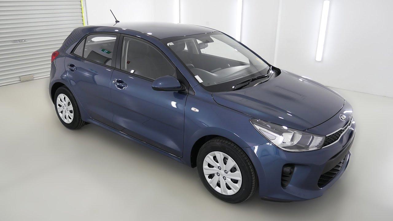 2019 Kia Rio >> KIA RIO S Smoke Blue Auto Hatchback K064016 - YouTube