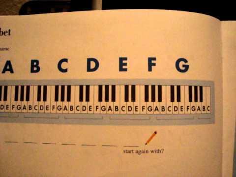 Faber Piano Adventures primer level The Music Alphabet pg24