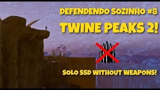 FORTNITE SAVE THE WORLD-DEFENDING THE SHIELD ALONE! TWINE PEAKS 2! (SOLO SSD WITHOUT WEAPONS)