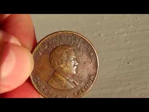 1881-1885 21st President Chester A Arthur Coin