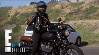 Ashley Hamilton Shows Off Motorcycle Skills | Stewarts & Hamiltons | E!