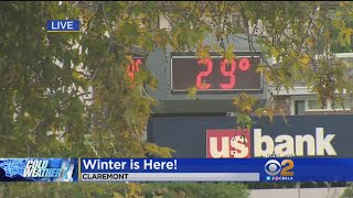 Southern California Hit By Freezing Temperatures
