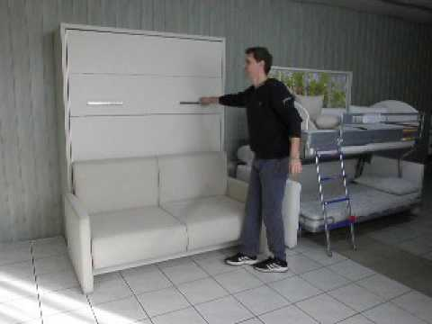 schrankbett wandbett mit sofa prestige youtube. Black Bedroom Furniture Sets. Home Design Ideas
