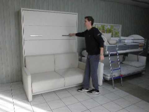 Schrankbett Wandbett mit Sofa Prestige - YouTube