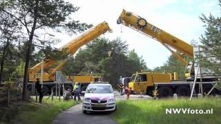 Berging gekantelde vuilniswagen Kolonel D.J. Teesweg Wezep
