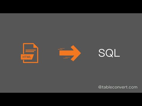 How To Convert HTML Table Code To SQL Online?