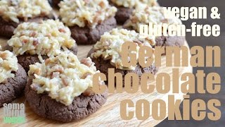German Chocolate Cookies (vegan & Gluten-free) Something Vegan