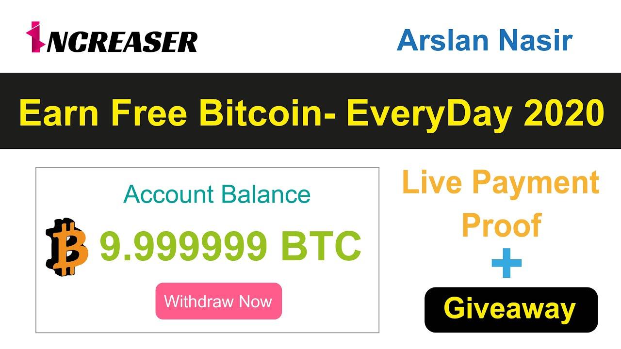 Increaser.io | Earn Free Bitcoin EveryDay - 2020 Live 5 USD ...