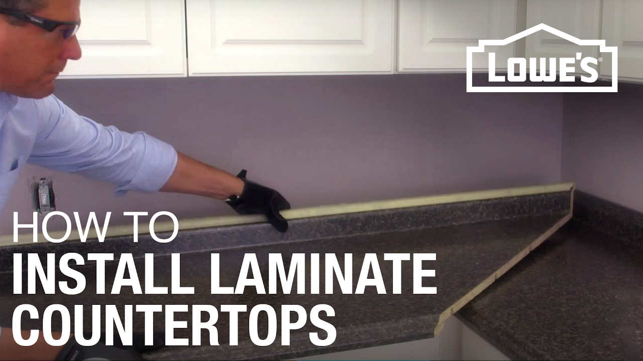 How to Install Laminate Countertops  YouTube