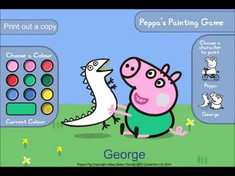 Pig Washing Games Peppa Pig Colouring Game