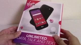 LG K3 Unboxing (Virgin Mobile USA)