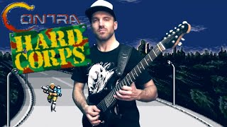 CONTRA: Hard Corps OST. METAL COVER. Music from five different levels  #progmuz