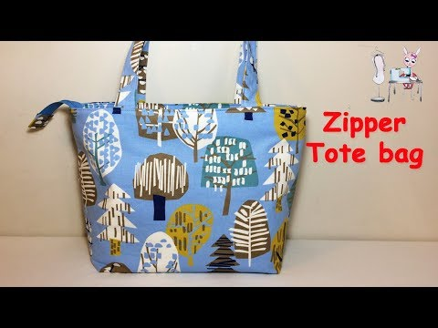 DIY TOTE BAG | TOTE BAG TUTORIAL | DIY BAG | SHOPPING BAG | HANDBAG | ZIPPER BAG |BAG  TUTORIAL