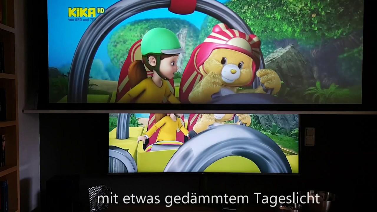 Esmart Mimoto Vs Cinegrey 5D LG TV In Meinem Wohnzimmerkino