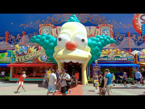 The Simpsons Springfield Area 2019 Complete Tour | Universal Studios Orlando