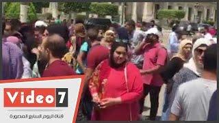 """وقفة احتجاجية لطلاب """"تجارة القاهرة"""" اعتراضا على نتائج الامتحانات"""