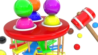 Learn Colors with Wooden Educational Toys Hammer and Ball Colors for Children and Kids