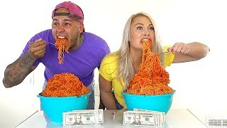 EXTREME SPICY NOODLE CHALLENGE!!! $1,000 CASH BET!!! **HOTTEST NOODLES IN THE WORLD!!!!** thumbnail