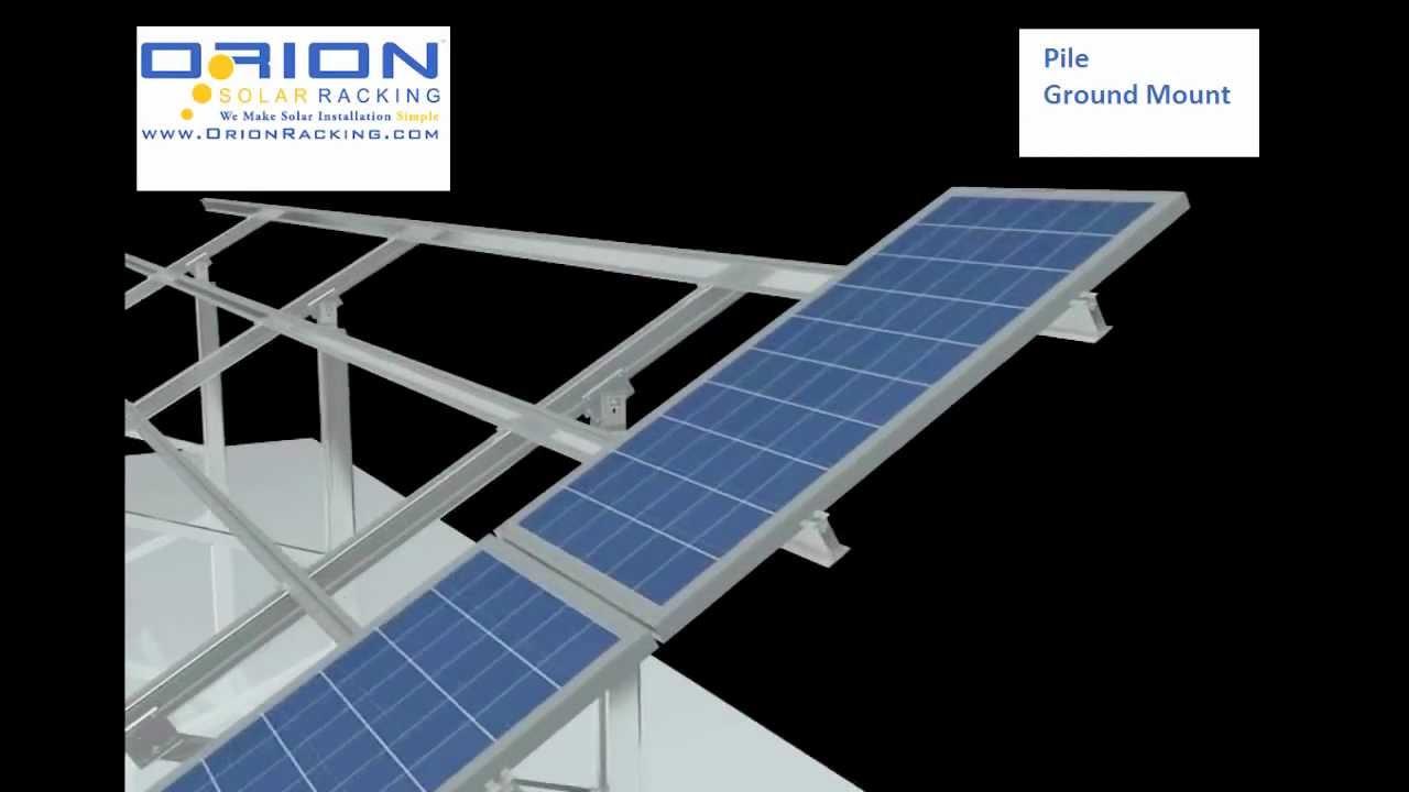 Orion Solar Racking Jupiter series Ground Mount System type 2