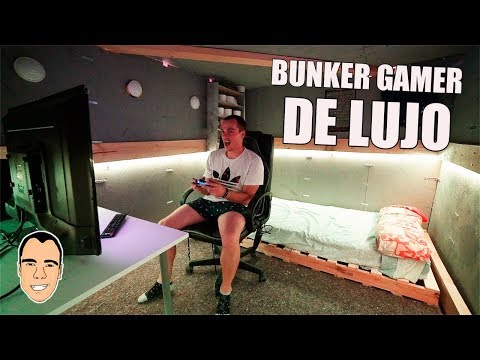 HE CREADO UN BUNKER GAMER DE LUJO *cama, tv, silla gaming y play 4* [Ninchiboy]