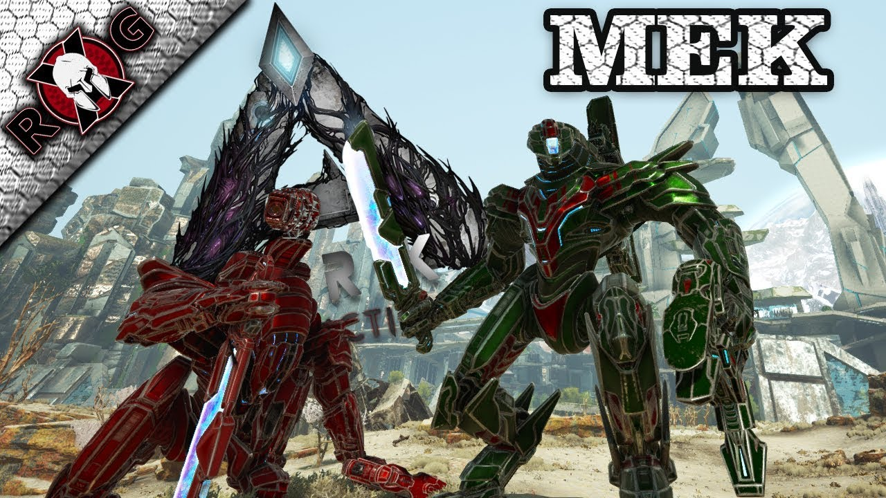 ARK | MEK CRAFTING & REVIEW! ROCKETS, CANNON, AND A SHIELD!?