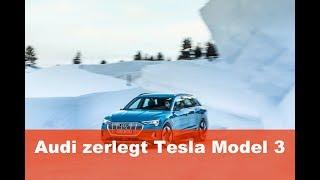 Audi zerlegt Tesla Model 3 und ist fassungslos