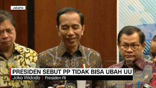 Omnibus Law, Jokowi Tegaskan Pp Tidak Bisa Merubah Undang-undang