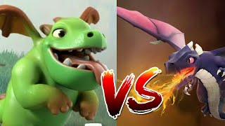 Clash Of Clans / Dragon vs Baby Dragon BATTLE / WHO IS STRONGER ?! / WHO WILL WIN ?! (HINDI)