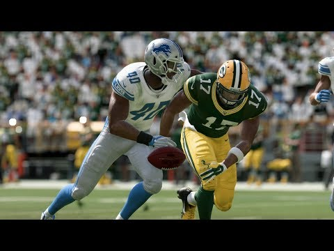 Madden 20 Gameplay Green Bay Packers Vs Detroit Lions (Madden NFL 20 Gameplay)