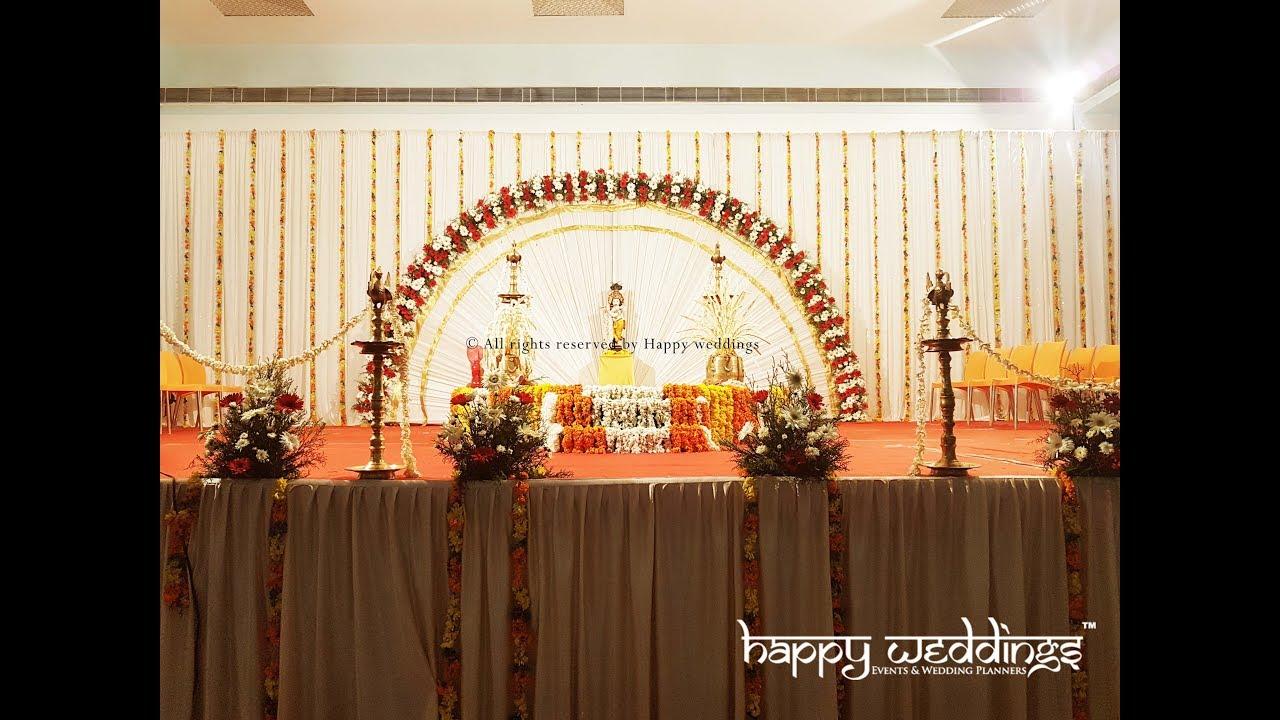 Kerala Hindu Wedding Decoration At Ragam Auditorium Kazhakkoottam