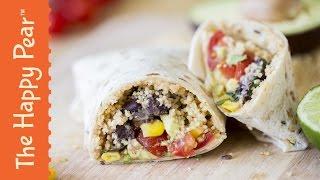 How to make a Healthy Burrito - The Happy Pear Recipe