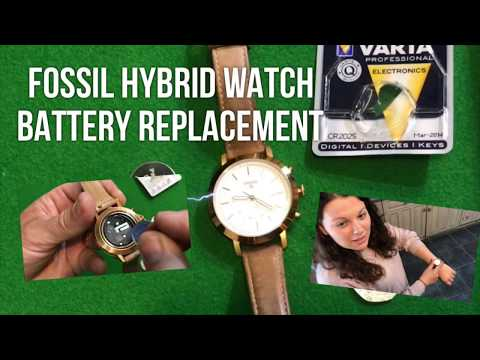 Fossil Watch Battery Replacement, (Neely Hybrid)