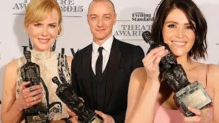 Nicole Kidman And James McAvoy win at Evening Standard Theatre Awards