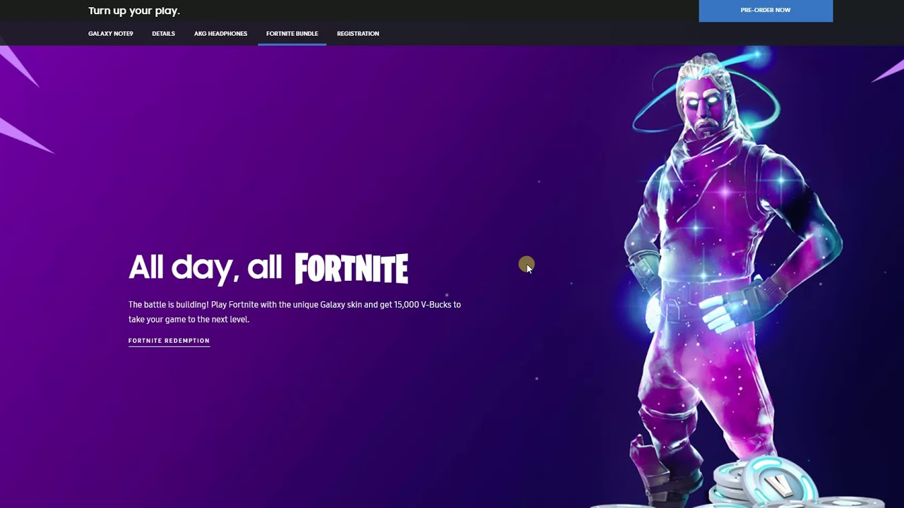 samsung galaxy note 9 fortnite skin akg promotion - samsung note 9 fortnite skin