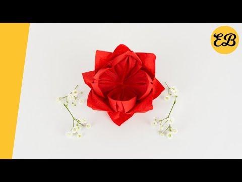 ᐅservietten Rose Falten Servietten Falten Papierservietten