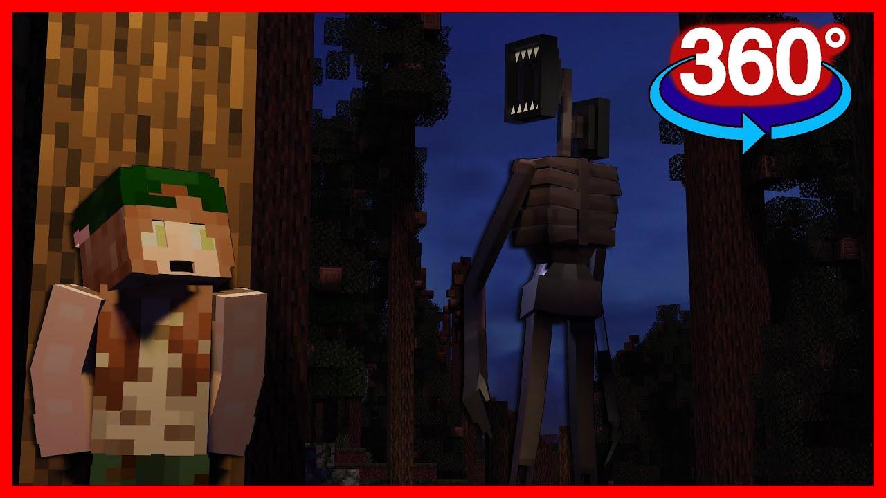 Siren Head in 360° - Minecraft Horror Animation [VR] 4K Video