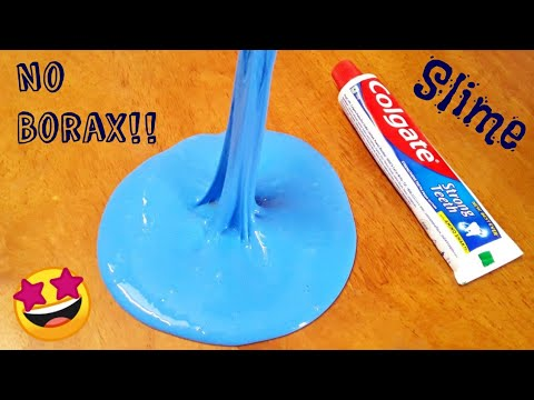 DIY Toothpaste Fluffy Slime!! No Shaving Cream, No Borax! how to make slime with toothpaste