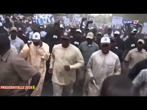 PRESIDENTIELLE 2019 :Incroyable ,Revivez l'arrivée du président Macky SALL à Fatick