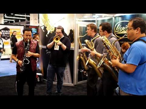 NAMM 2017 - Bass, Bari, Tenor, Alto, and Trumpet Jam