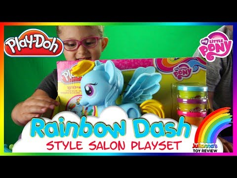 Play-Doh My Little Pony Rainbow Dash Style Salon Playset Unbox And Play  ✔