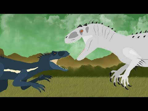 Dinosaurs Cartoons Battles: Indoraptor Vs Indominus Rex. DinoMania