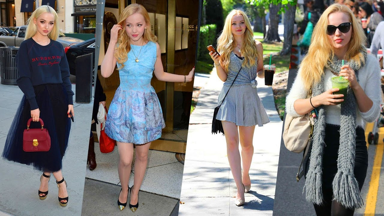 dove cameron's hairstyle, casual style, street style & outfits - 2018