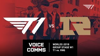 How T1 beat RNG at Worlds 2019 Group Stage   Worlds 2019 Voice Comms
