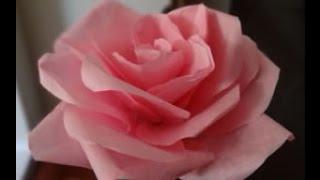 Cara Mudah Membuat Mawar dari Kertas Tisu / Krep