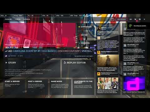 FiveM ปรับเกมให้โชว์ FPS และการแก้ CPU 100%